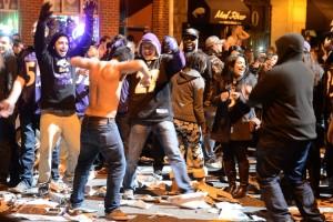 Ravens Fans Gather To Watch Super Bowl Against San Francisco